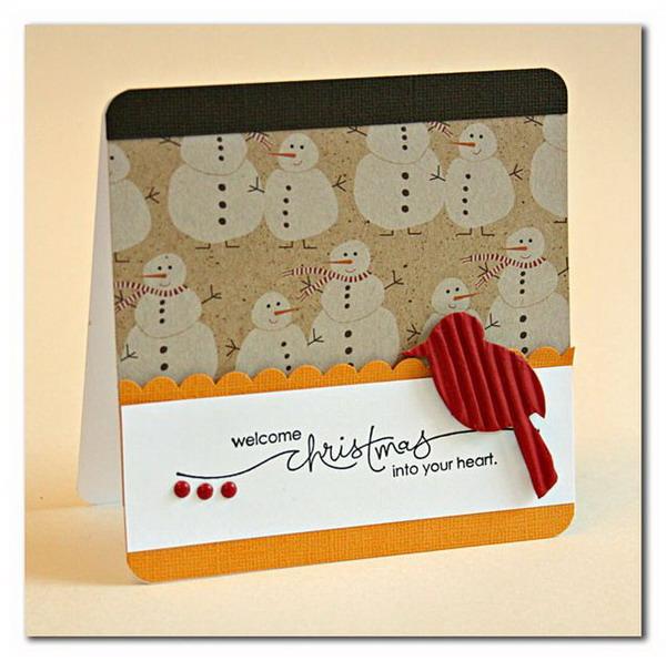 50 creative homemade christmas cards showcase 2017 for Crafty christmas cards ideas