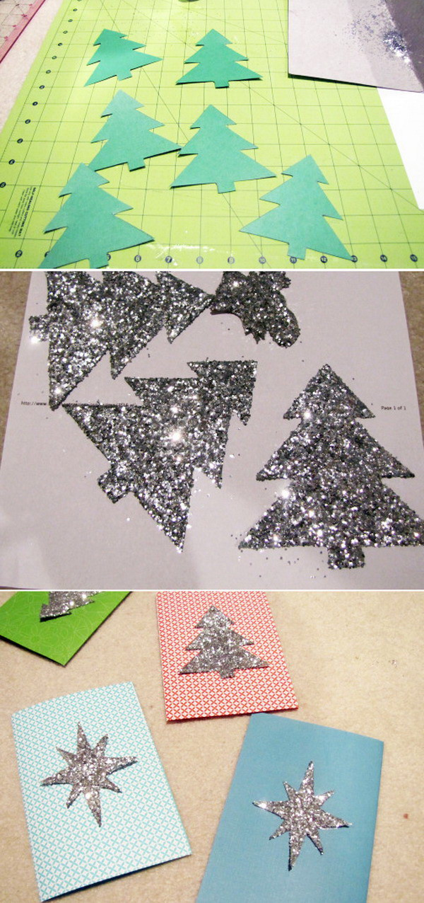diy glittery christmas card 27
