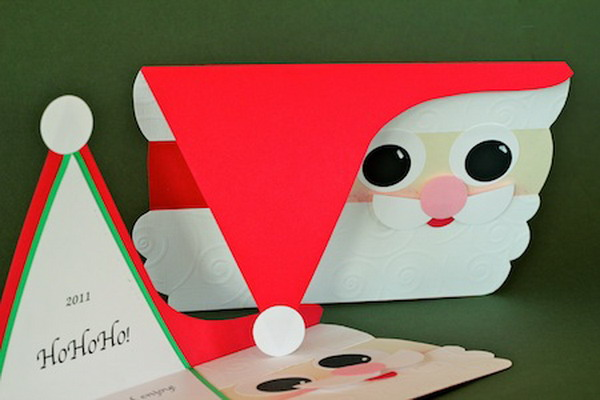 diy santa christmas card 40