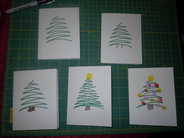 fingerprint christmas card 33
