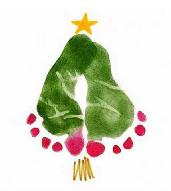 fingerprint christmas tree card 36