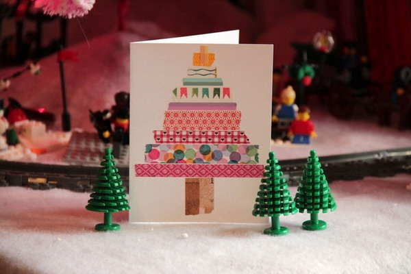 homemade christmas tree card 15