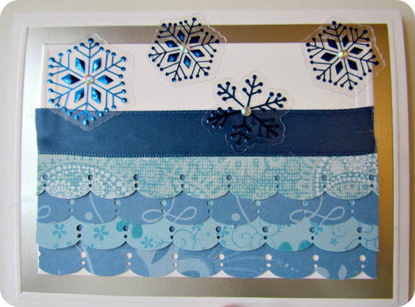 scalloped christmas card 23