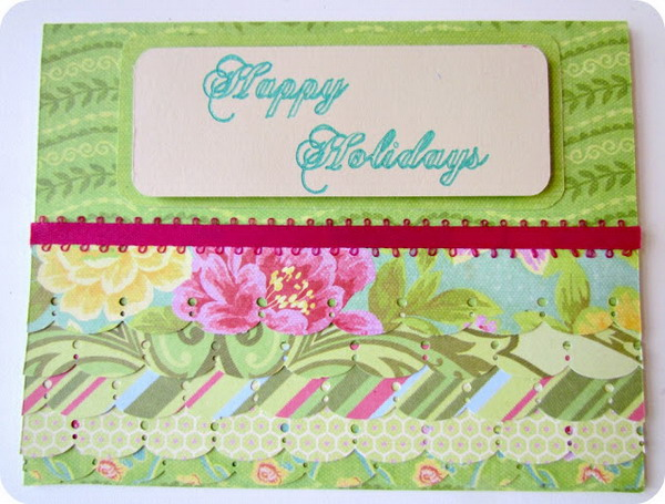 scalloped christmas card 24