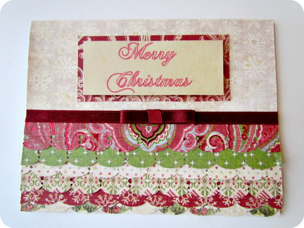 scalloped christmas card 25