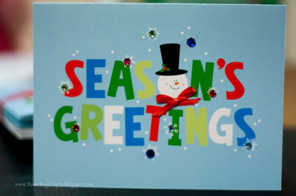 semi homemade xmas card 4