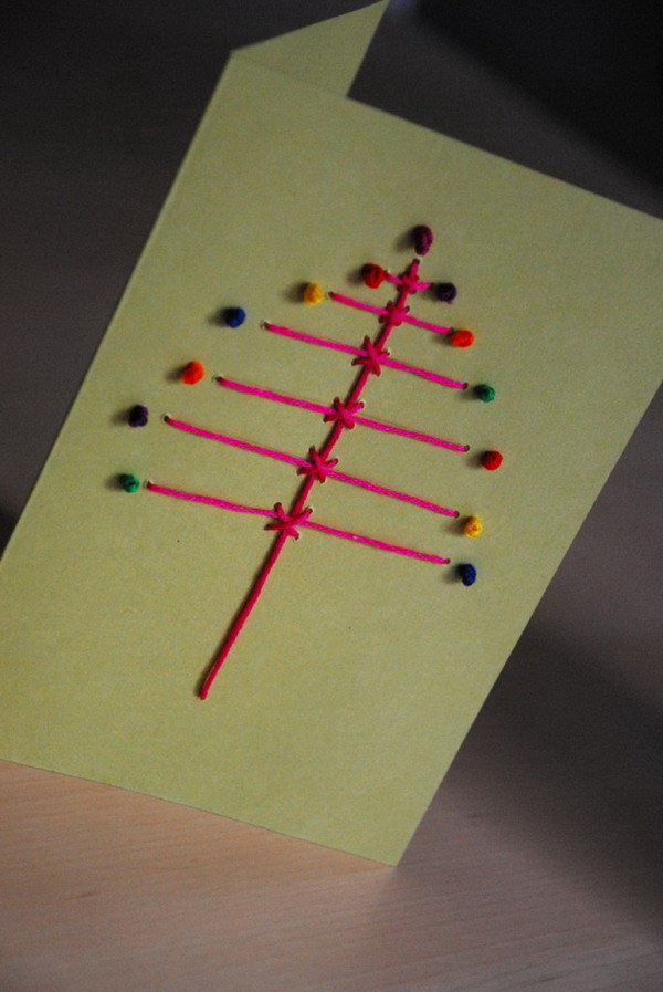 stitched christmas card 19