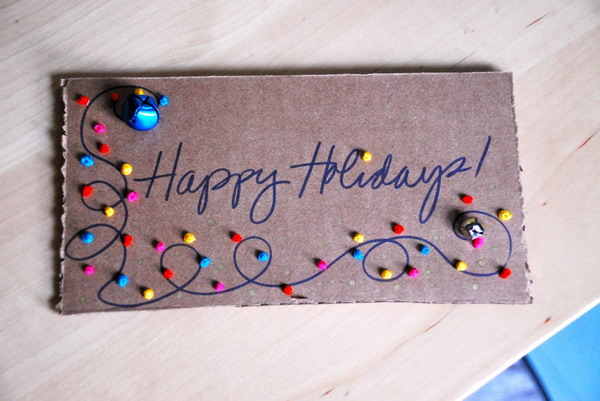 stitched christmas card 21