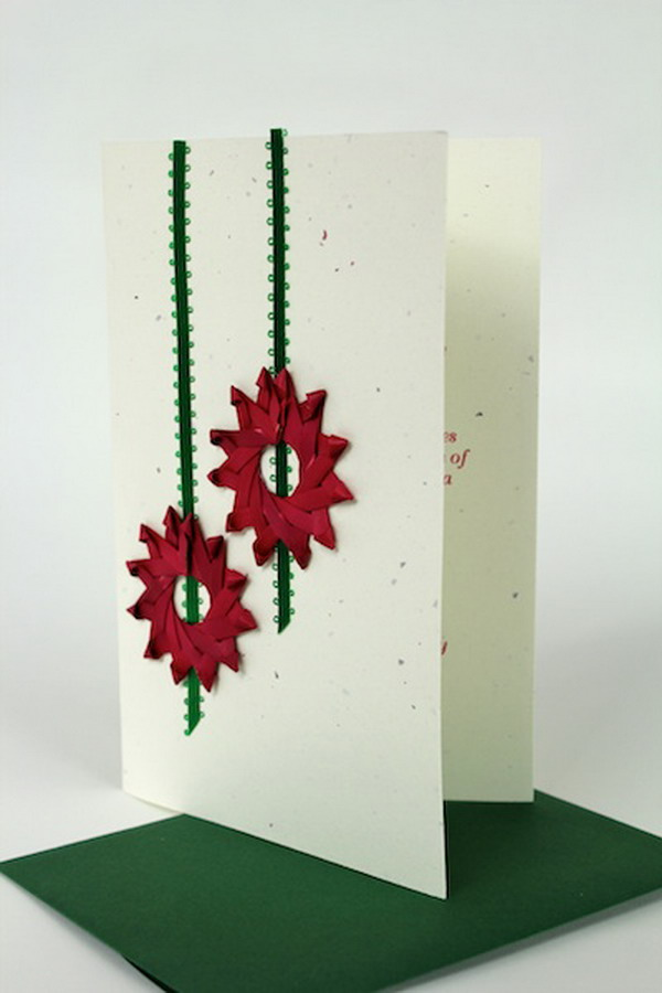 straw wreaths handmade xmas card 42
