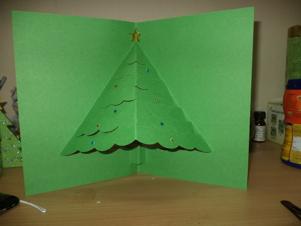 3d pop up christmas tree card 8