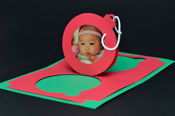 christmas ornament pop up card 12