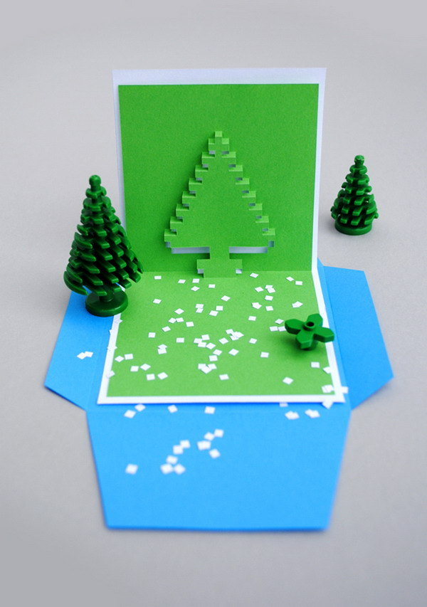 christmas pixel popup cards 5