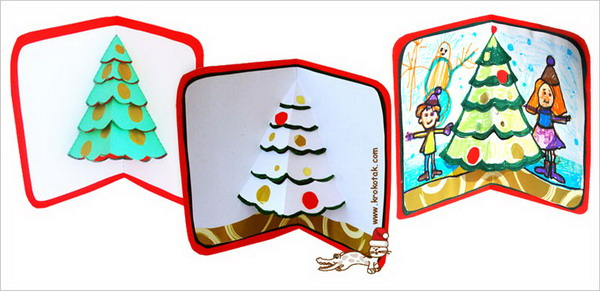 pop up christmas cards 16