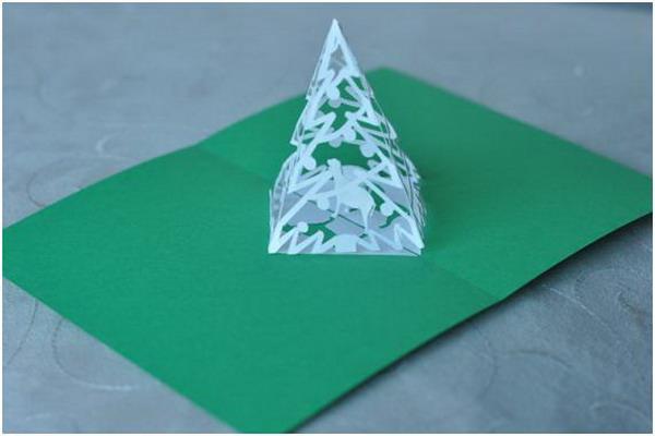 pyramid christmas tree pop up card 13