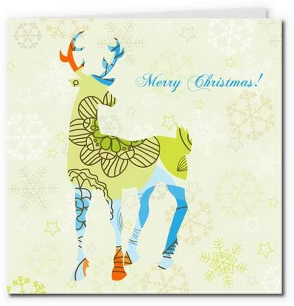 artistic reindeer card 12
