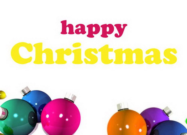 christmas baubles card 35