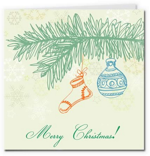 christmas decoration card 17