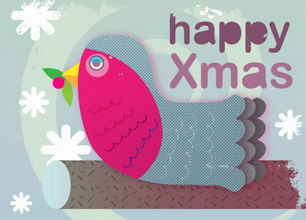christmas red breasted robin card 39