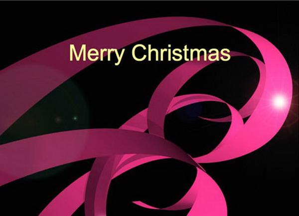 christmas ribbons festive card 37