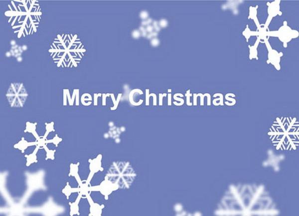 christmas snow printable card 38