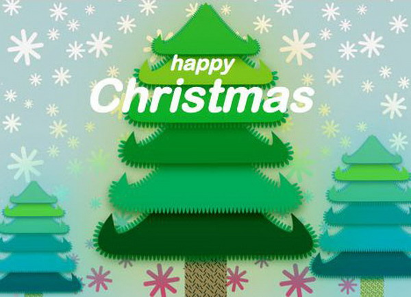 christmas tree free printable card 31