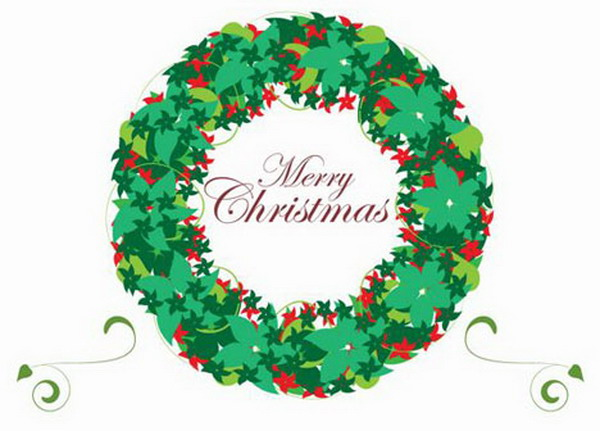 christmas wreath card 40