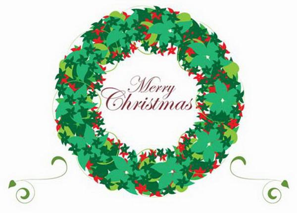 christmas wreath card 40