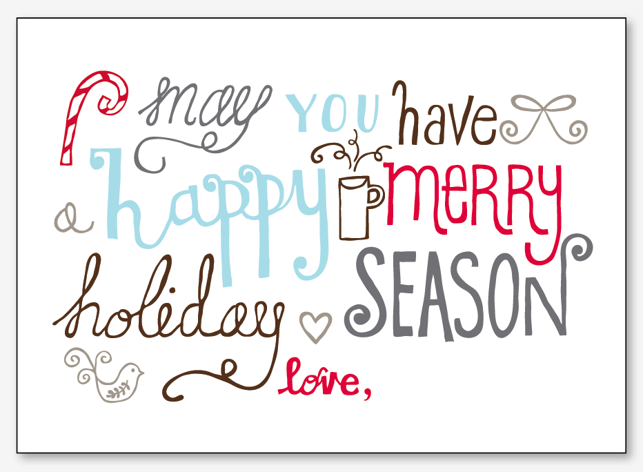 free hand drawn christmas card - Free Photo Christmas Card Templates