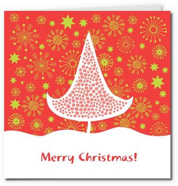 red gold modern christmas tree design 23
