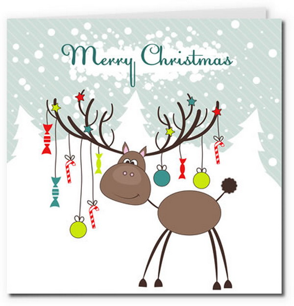 reindeer with christmas baubles 19