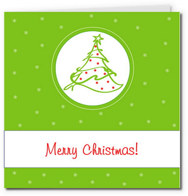 simple christmas tree card 15