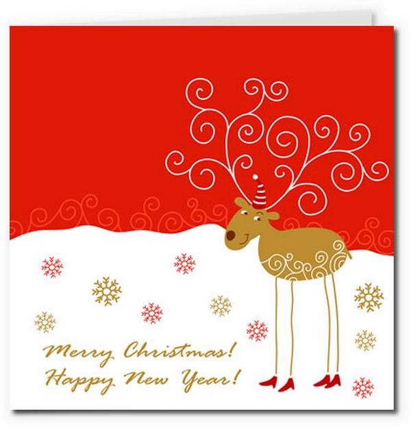 Распечатки на открытку с новым годом