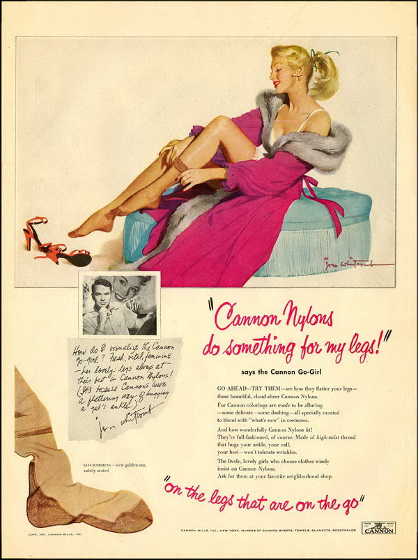 1951 cannon mills advertisement 38