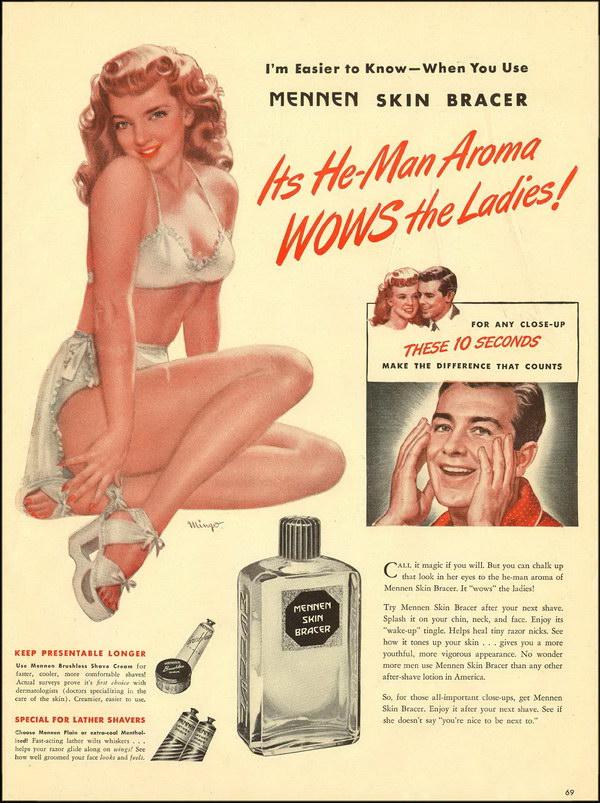 vintage beauty ad 1946 mennen skin bracer 34