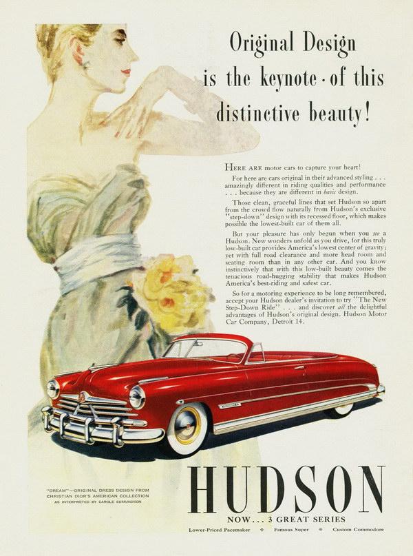 vintage car ad 1950 hudson 6