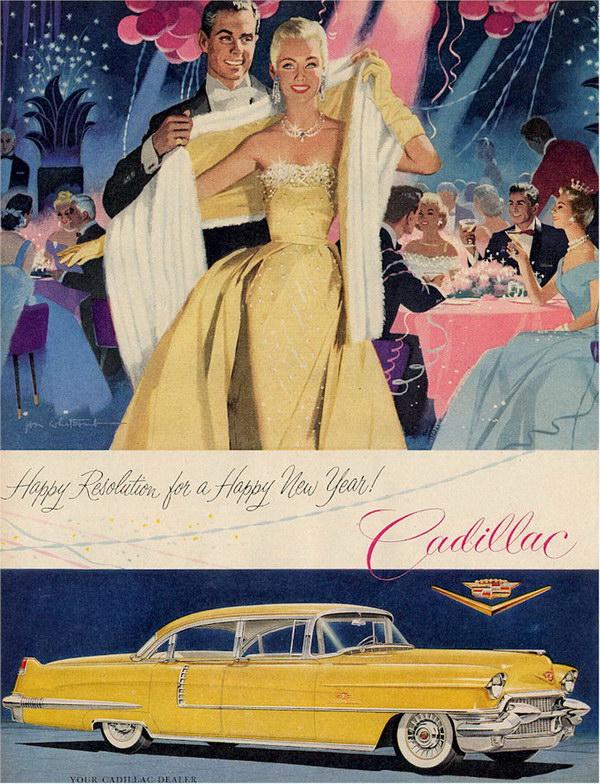 vintage car ad 1955 cadillac 8