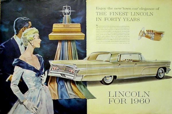 vintage car ad 1960 lincoln 9