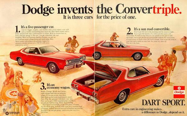 vintage car ad 1973 dodge 10