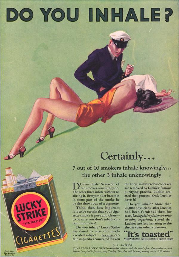 vintage cigarette ad lucky strike 13