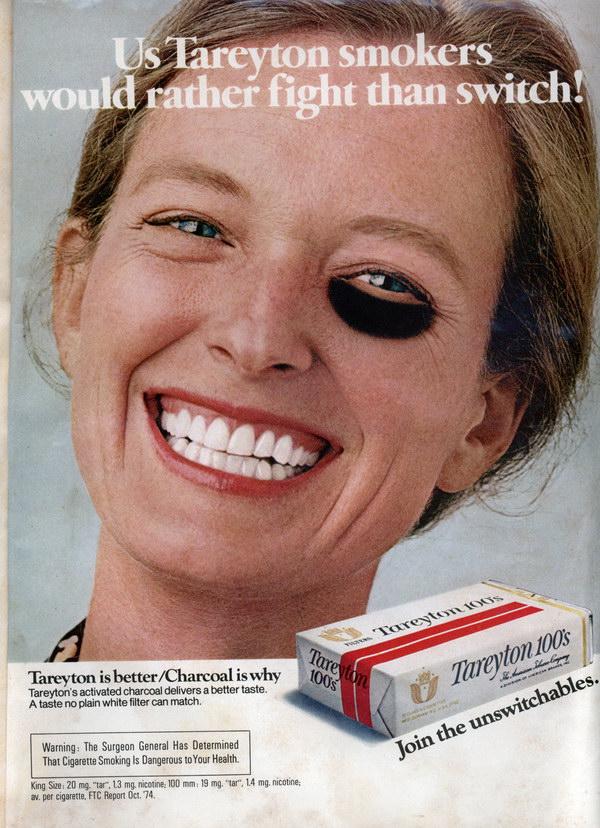 vintage cigarette ad tareyton black eye 16