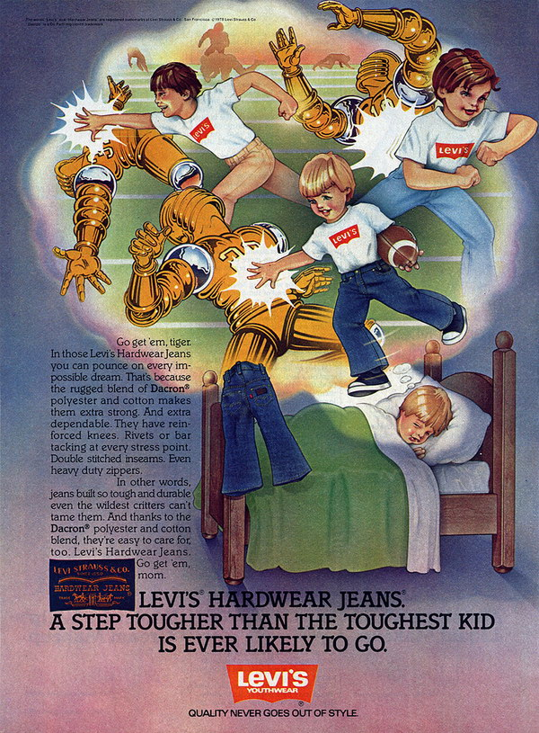 vintage funny ad 1978 leviss 49