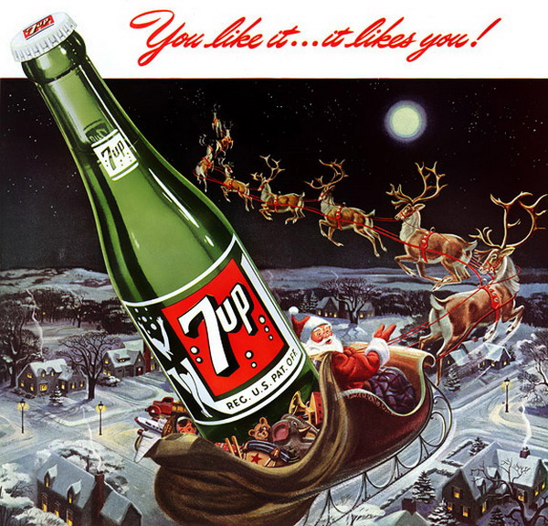 7up christmas ads 7