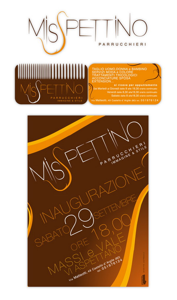 comb business card 25