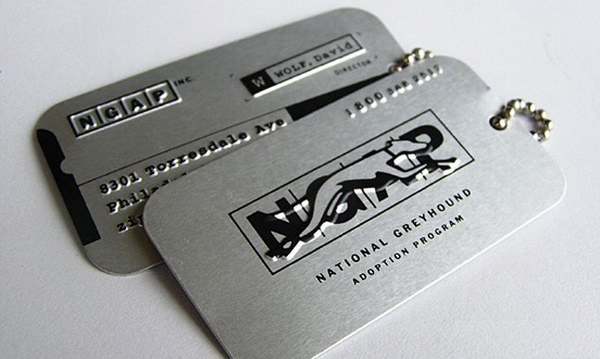 dog tags business card 20