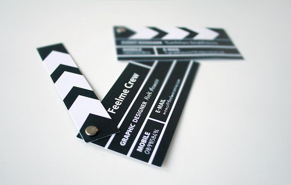 film cut business card 21