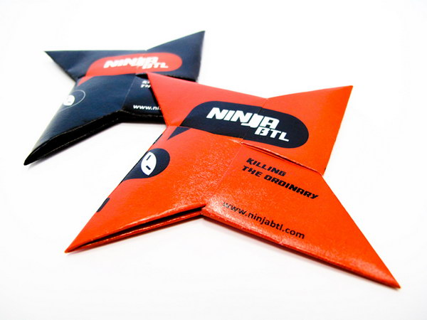 ninja star business card 24