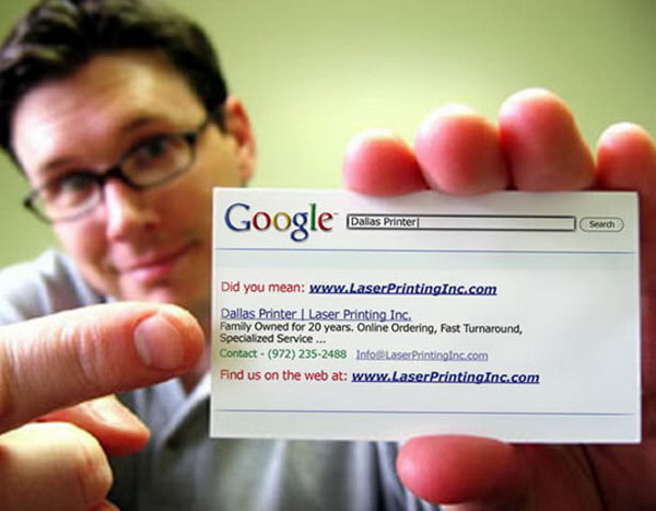 show your url on a business card 16