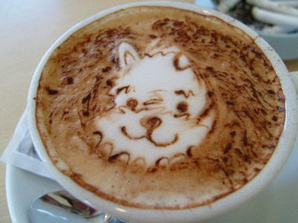 bear coffee art 11
