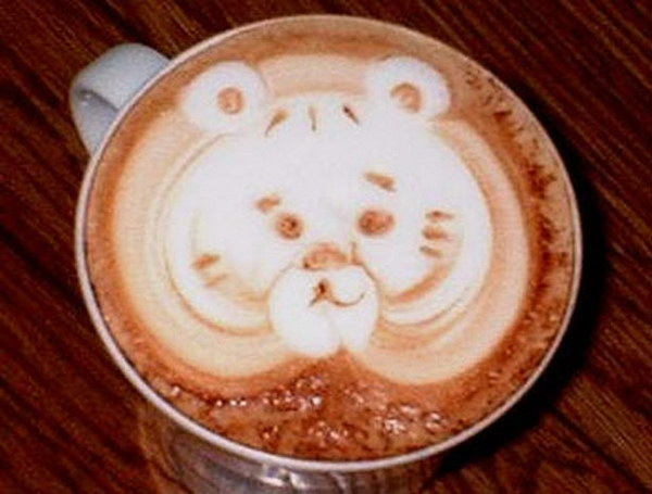 bear coffee art 7