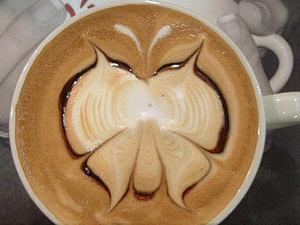 butterfly coffee art 8
